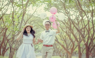 Prewedding fun dengan Balon