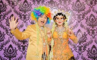 foto wedding lucu