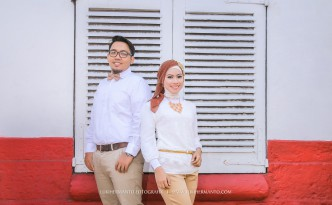 Foto Prewedding Hijab Simple